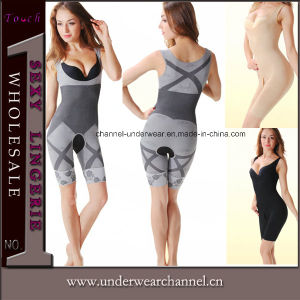 Bamboo Slimming Shaper Full Bodysuit Corset Tummy Trimmer Shapewear (THY001) pictures & photos
