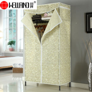 Modern Design Bedroom Furniture Assemble Non-Woven Fabric Wardrobe pictures & photos