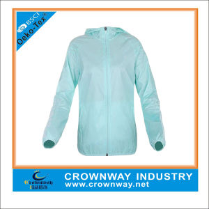 Women′s Zip up Vapor Custom Running Sports Jacket pictures & photos
