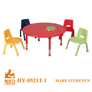 Modern Round Adjustable Table and Chair for Kids Chair pictures & photos