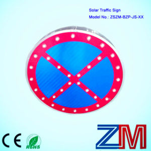 Factory Price 3m Film Solar Powered Flashing Road Sign pictures & photos