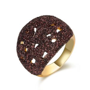 Big Brown Custom Crystal Alloy Imitation Jewelry Ring pictures & photos