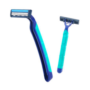 Disposable Razor Triple Blade Shaving Razor Stainless Steel. pictures & photos