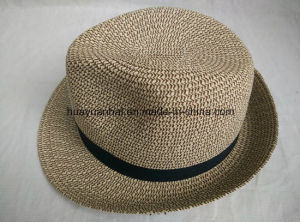 90% Paper 10%Polyester with Mixed Color Leisurely Style Fedora Hats pictures & photos