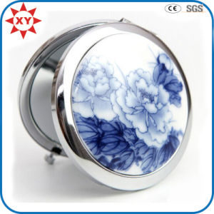 Made in China Blue and White Porcelain Metal Pocket Mirror pictures & photos