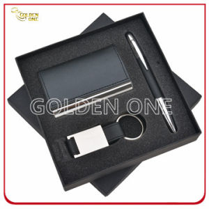 Fashion PU Leather Card Holder and Key Chain Business Gift pictures & photos