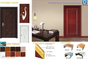 Cheap PVC or MDF Wood Interior Door pictures & photos