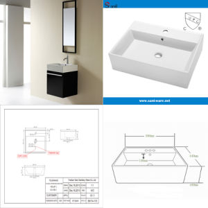 Cupc Approved Above Counter Top Ceramic Art Basin (SN114-115) pictures & photos