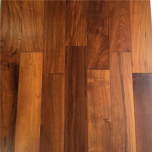 UV Lacquered Popular Design Solid Burma Teak Wood Flooring