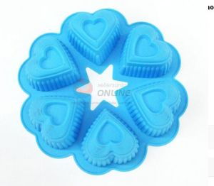 Unique Designs Heart Shaped Silicone Chocolate Mould Ice Tray pictures & photos