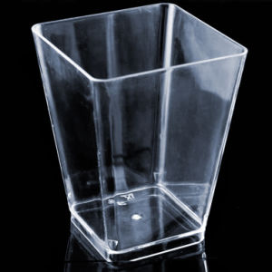 Plastic Cup Large Geometric Kova Cup Clear 6 Ounces pictures & photos