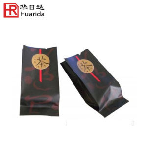 Glossy Side Gusset Plastic Coffee Bag with Customized Logo pictures & photos