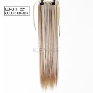 High Recommend Synthetic Ponytail Hair Extension pictures & photos
