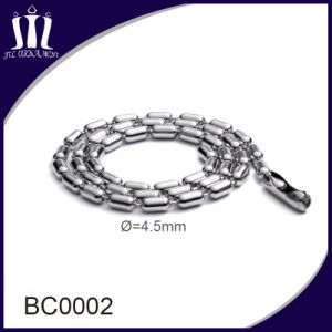 Wholesale Stainless Steel Beaded Metal Ball Necklace Chain pictures & photos
