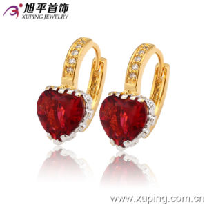 Newest Fashion Fancy CZ Crystal Heart-Shaped Multicolor Jewelry Hoop Earring for Women - 27887 pictures & photos