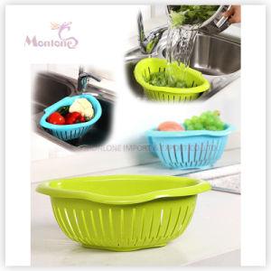Sink Colander Kitchen Storage Plastic Fruit Vegetable Washing Drain Basket pictures & photos