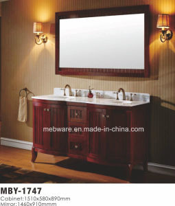 "60""High Quality Solid Wood Bathroom Cabinet pictures & photos"