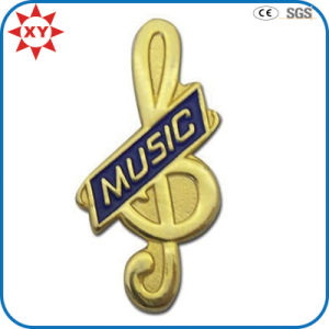 Gold Plating Custom Music Button Badge pictures & photos
