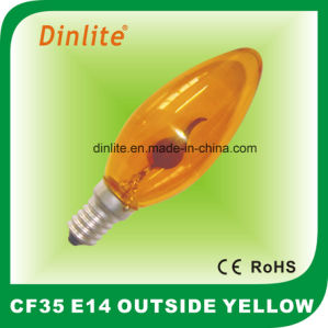 CF35 Colorful Flame Candle Incandescent Bulb pictures & photos