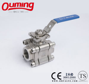 3PC High Pressure Ball Valve with High Platform pictures & photos