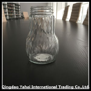 500ml Vinegar Glass Bottle with Twill Stripe pictures & photos