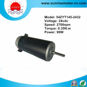 24VDC 0.35n. M 2700rpm 99W Round Permanent Magnet DC Motor pictures & photos
