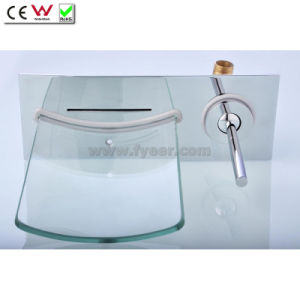 Glass Waterfall Wall Faucet Bath Tap (QH0500W) pictures & photos