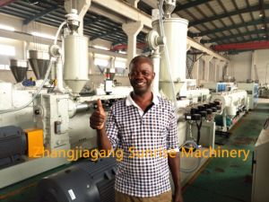 Reliable Plastic Double PVC Pipe Extrusion Machine pictures & photos