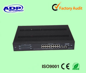 High Quality 16 Port Smart Managed Poe Switch pictures & photos
