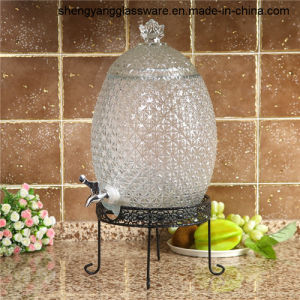 Free Sample 8L Pineapple Glass Beverage Dispenser with Tap pictures & photos