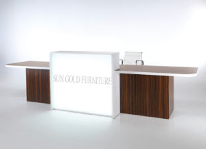 New Design Glass and Wood Beauty Salon Front Desk (SZ-RT051) pictures & photos