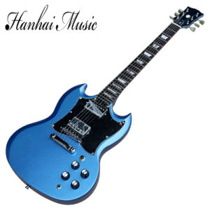 Hanhai Music / Blue Sg Style Electric Guitar with Chrome Hardware pictures & photos