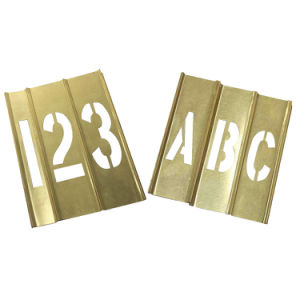 Copper Interlocking Stencil with Letters and Numbers (20Y519)