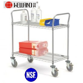 NSF Adjustable Chrome Metal Service Trolley for Hospital pictures & photos