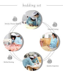 European Style Quality Oeko-Tex Elegance Seamless Sheet Silk Bedding Set Bed Linen pictures & photos