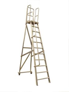 (375LBS) 3.05m Aluminum Alloy Detachable Platform Ladder with Casters pictures & photos