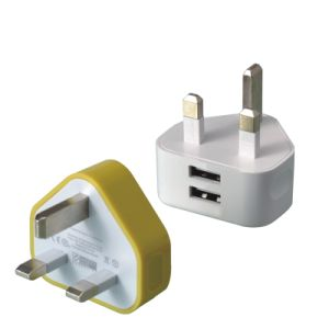 5V 1A UK Plug Adapter 3 Pin USB Travel Charger pictures & photos