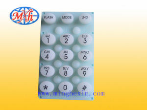 White Rubber Keypad with ISO SGS