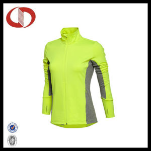 Wholesale Dry Fit Women Compression Clothes Running Jacket pictures & photos