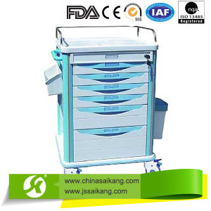 High Quality Hospital Luxury Meical Treatment Trolley pictures & photos