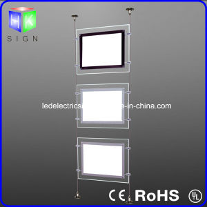 Real Estate Crystal Landscape LED Window Light Box with Portrate Hanging Sign pictures & photos