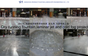 2013 Dry Running Fountain, Laminar Jet and Cold Fog Fountain Project in Hangzhou pictures & photos