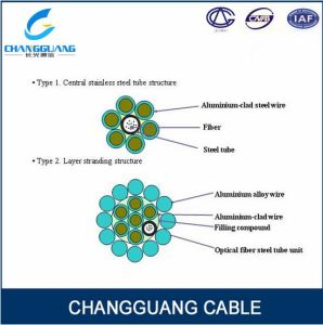 Aerial Aluminium Clad 24 Cores Sm Opgw Cable Communication Ground Wire Cable pictures & photos
