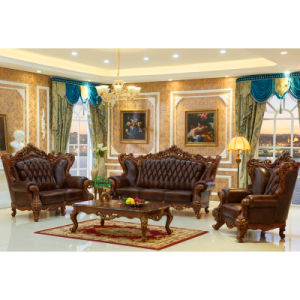 Wood Leather Sofa Chair for Living Room Furniture (513A)