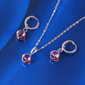 Free Samples 2016 Newest Lucky CZ Stone Jewelry Set (61204) pictures & photos