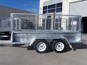 10X5 Tandem with Cage Trailer Hot DIP Galvanised Heavy Duty 2000 Kg ATM