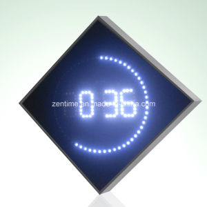 Electric Blue LED Digital Wall Time Clock pictures & photos
