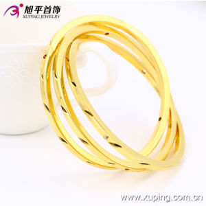 Fashion Simple 24k Gold Color Imitation Jewelry Bangle 51435 pictures & photos