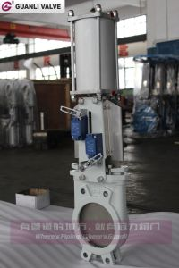 Knife Gate Valve with Double Action Pneumatic Actuator pictures & photos