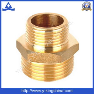Brass Hex Reducing Nipple Coupling Fitting (YD-6006) pictures & photos